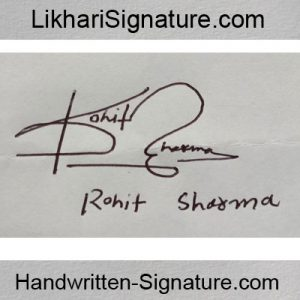 Rohit Sharma signature