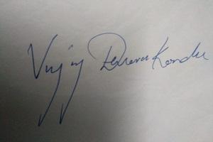 Vijay Devarakonda signature